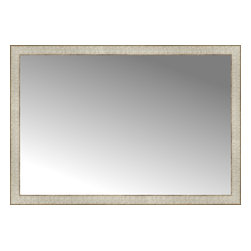 "Posters 2 Prints, LLC - 45"" x 31"" Libretto Antique Silver Custom Framed Mirror - 45"" x 31"" Custom Framed Mirror made by Posters 2 Prints. Standard glass with unrivaled selection of crafted mirror frames.  Protected with category II safety backing to keep glass fragments together should the mirror be accidentally broken.  Safe arrival guaranteed.  Made in the United States of America"