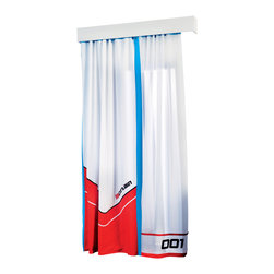 "Cilek - Turbo Curtain - The Curtain is part of the ""Need for Sleep"" edition of Turbo Beds. Beautifully crafted by Cilek, this white and red curtain can be a great addition to the Turbo Beds themed bedroom. Astonishing details and vibrant color."