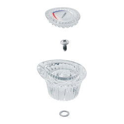 Moen - Moen 96797 Chateau Knob Handle Kit for Tub/ Shower, Clear Knob with White & Chro - Moen 96797 Chateau Knob Handle Kit for Tub/ Shower, Clear Knob with White & Chrome InsertMoen is dedicated to designing and delivering beautiful products that last a lifetime. Moen offers a diverse selection of kitchen faucets, kitchen sinks, bathroom faucets and accessories, and showering products. Moen products combine style and functionality with durability for a lifetime of customer satisfaction.Moen 96797 Chateau Knob Handle Kit for Tub/ Shower, Clear Knob with White & Chrome Insert, Features:
