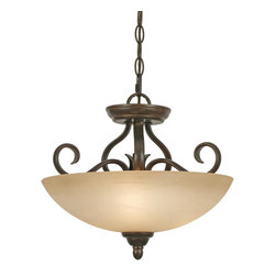Golden Lighting - Riverton PC Convertible Semi-Flush - Bring timeless elegance to your home with this classic light fixture in antiqued metal and semitranslucent glass. Better still, this light can be installed flush to the ceiling or as a hanging pendant fixture, so it's sure to fit perfectly with your decor.