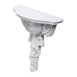 uDecor - CB-1679 Wall Shelf - These corbels are for decorative use only. These should not be used for any structural support.