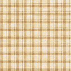 Brewster - Brewster Home Fashions Brown Plaid Wallpaper - A combination of pale and deep brown,this pretty wall covering dresses walls in alluring plaid. Brewster presents a versatile wallpaper that will be beautiful in any room.