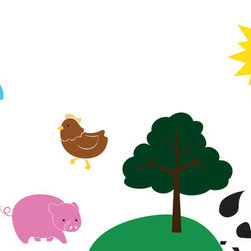 Farm Animals Collection Wall Decal - Old McDonald had some vinyl (REMOVE AND PEEL-EE-I-EE-I-O). Bring your favorite farm animals to a child's room with our farm collection. This set is ideal for nurseries, kids' rooms, preschools, and elementary schools.