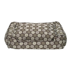 Jax & Bones - Jax & Bones Cotton Blends Lounge Bed Medallion Large - The Jax and Bones cotton blends lounge bed is perfect for your dog for lazing around, snuggling, curling into, and leaning against. The warmth and extra reassurance this bed provides lets your dog remain comfortable and happy. With extremely unique range of designs, these beds are easy to maintain and made from the highest quality material especially considering we use an eco-friendly fiber called Sustainafill.  A diverse selection of heavy weight fabrics that are machine washable and luxurious to the touch. Most of these fabrics carry a texture that will create a uber luxurious upholstery feeling dog bed. Great for medium to high traffic use and homes that want a more unique design. Machine washable, low heat tumble recommended! 100% Machine Washable and filled with Sustainafill, an eco-friendly fiber.