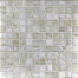 "Glass Tile Oasis - Smoke 1"" x 1"" Grey Pool Frosted Glass - Sheet size:  1.11 Sq. Ft.   Tile Size:  1"" x 1""   Tiles per sheet:  144    Tile thickness:  1/4""   Grout Joints:  1/8""   Recycled Components:  70%   Sheet Mount: Paper Face     Sold by the sheet    - This collection is evocative of the glass-like natural layered silica created by volcanic stone formations. With a nod to old world Venetian glassmakers  our mosaics are created using the same processes from molten silica; hand-poured  blending transparent and opaque colors and natural and opalescent finishes into a unique  luxurious glass designed to please the most discriminating eye. It is available in 14 dramatic color blends and two finishes  Glossy & Frosted. Each piece is hand-poured and unique  designed with a certain amount of variation and variegation of color  tone  texture and shade for a distinctive appearance. Our hand-made process incorporates creases  wrinkles  waves  bubbles and other surface effects indicative of hand-made glass  all designed to capture light and enhance the final beauty of the project."