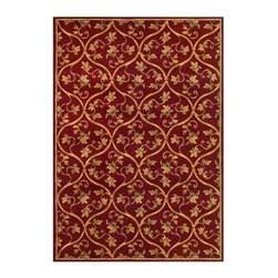 """Kas Rugs - Area Rug: Floral Scroll Red 2' 3"""" x 3' 3"""" - Shop for Flooring at The Home Depot. This series uses heat-set yarns and hand carved with specific attention to detail. This line features classic Aubusson floral patterns, a look usually found only in traditional hand knotted collections. This timeless classic has been designed with today's colors in mind, bringing a beautiful blend of yesterday and today in your home."""