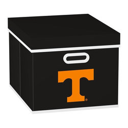 MyOwnersBox - MyOwnersBox Closet Organization College STACKITS University of Tennessee 12 in. - Shop for Storage & Organization at The Home Depot. The MyOwnersBox 10 in. x 12 in. x 15 in. University of Tennessee College STACKITS Stackable Black Fabric Storage Cube has an attractive team embroided logo that looks great in your storage area. Made of sturdy non-woven polypropylene and reinforced with composite wood this storage cube has a collapsible design and folds out to form a perfect bankers box size that fits letter and legal sized folders and hanging files. Great for adding team spirit to your office or home office as well as tight spaces in your closet or college dorm room. The storage cube is also ideal for storing clothing or small toys in your children's room or laundry room. The lid is reinforced to allow stacking of 3 or more storage cubes and each comes with two reinforced plastic handles for easy mobility. Color: Black.