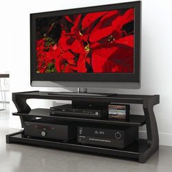 """dCOR design - Sonoma 60"""" TV Stand - Features: -Tinted glass shelves.-TV Size Accommodated: Accomodates up to 70"""" TV.-Finish: Rich midnight black lacquer.-Powder Coated Finish: No.-Gloss Finish: No.-Material: Engineered wood & tempered glass.-Number of Items Included: 1.-Solid Wood Construction: No.-Distressed: No.-Exterior Shelves: Yes -Number of Exterior Shelves: 2.-Adjustable Exterior Shelves: No..-Drawers: No.-Cabinets: No.-Scratch Resistant: No.-Ventilation Features: Yes.-Casters: No.-Accommodates Fireplace: No.-Fireplace Included: No.-Lighted: No.-Media Storage: Yes.-Cable Management: Yes.-Remote Control Included: No.-Batteries Required: No.-Weight Capacity: 150 lbs maximim TV weight.-Swatch Available: Yes.-Commercial Use: No.-Collection: Sonoma.-Recycled Content: No.-Lift Mechanism: No.-Expandable: No.-TV Swivel Base: No.-Integrated Flat Screen Mount: No.-Hardware Material: Metal.-Non-Toxic: No.-Country of Manufacture: Canada.Specifications: -ISTA 3A Certified: No.-CARB 2 Certified: Yes.-CARB Certified: Yes.-FSC Certified: No.-General Conformity Certified: No.-CSA Certified: No.-EPP Certified: No.Dimensions: -Overall Height - Top to Bottom: 21.5"""".-Overall Width - Side to Side: 60"""".-Overall Depth - Front to Back: 22.5"""".-Shelving: -Shelf Height - Top to Bottom (Top) : 6.25"""".-Shelf Height - Top to Bottom (Bottom) : 8.25"""".-Shelf Width - Side to Side: 57"""".-Shelf Depth - Front to Back (Top) : 19.25"""".-Shelf Depth - Front to Back (Bottom) : 21""""..-Overall Product Weight: 121 lbs.Assembly: -Assembly Required: Yes.-Tools Needed: Screwdriver.-Additional Parts Required: No.Warranty: -Product Warranty: 1 year warranty."""