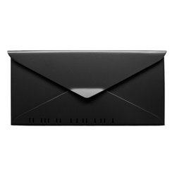 #10 Letterbox, A Wall-Mount Mailbox - The No. 10 Letterbox by HouseArt, shown in Satin Black. This is a wall-mount mailbox.