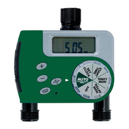 Orbit - Orbit Digital Two Automatic Outlet Hose Faucet Lawn Watering Timer - 58910 - This Orbit digital water timer features 2 timed ports which makes watering simple and easy. This hose timer's programming is simple and you can easily control the water flow to your garden or lawn with an easy-to-read digital display and an easy-to-use dial. Featuring a rain delay setting, it is easy to conserve water after it rains. This timer is perfect for watering the garden or for a lawn sprinkler system.Features and Benefits