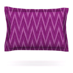 "Kess InHouse - Amanda Lane ""Plum Purple Chevron"" Lavender Fuschia Pillow Sham (Cotton, 40"" x 20 - Pairing your already chic duvet cover with playful pillow shams is the perfect way to tie your bedroom together. There are endless possibilities to feed your artistic palette with these imaginative pillow shams. It will looks so elegant you won't want ruin the masterpiece you have created when you go to bed. Not only are these pillow shams nice to look at they are also made from a high quality cotton blend. They are so soft that they will elevate your sleep up to level that is beyond Cloud 9. We always print our goods with the highest quality printing process in order to maintain the integrity of the art that you are adeptly displaying. This means that you won't have to worry about your art fading or your sham loosing it's freshness."