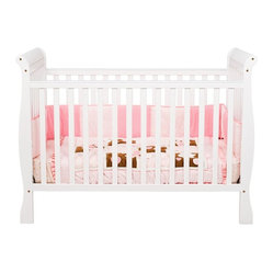 DaVinci Jamie 4-in-1 Convertible Wood Baby Crib in White Finish