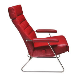 ADELE Leather Recliner - Adele features a sleek profile that brings a new design concept to reclining chairs.