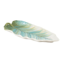 Fitz and Floyd - Fitz and Floyd 29-502 Cockatoo Bread Tray - 29-502 - Shop for Trays from Hayneedle.com! The tropical look of the Fitz and Floyd 29-502 Cockatoo Bread Tray is sure to turn your party or tea into an exotic adventure. The durable earthenware design features a pale blue and green palette to add some natural charm. The perfect tray for serving small appetizers it's a great companion piece to the rest of the Cockatoo set (sold separately).About Fitz and FloydFitz and Floyd is recognized worldwide as a leader amongst the style- and quality-conscious. For 50 years their unique designs have made them the leader in the purveyor of hand-painted ceramic dinnerware tableware accessories giftware and collectibles. All Fitz and Floyd pieces are easy to spot. Each piece is distinctively hand-crafted by artisans from the drawing board to the sculpting wheel and kiln.The company's Dallas-based studios are renowned for producing over 500 unique designs per year. Creations range from presidential dinnerware for the White House or a tea service for Her Majesty Queen Elizabeth II to the perfect centerpiece for your table and each design is lovingly crafted in the highest quality. Meticulous craftsmanship and exquisite detail make every Fitz and Floyd piece a treasured heirloom-quality gift.