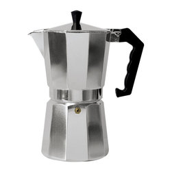 Epoca - Stovetop Espresso Maker - Premium Aluminum Stove top press Coffee Maker 6 cup. Aluminum press Coffee Maker that delivers 6 cups of rich, authentic press from your stove top. Made from quality cast aluminum with a heat-resistant handle.