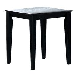 Monarch Specialties - Monarch Specialties I 1917E Black Grain Veneer End Table - End Table (1)