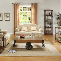 Shop Halford Industrial Style Factory Cart Living Products ...