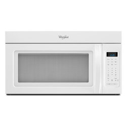 None - Whirlpool 1.7-cubic-foot Over-the-Range White Microwave - This Whirlpool over-the-range microwave oven has a 220 CFM vent system,2-speed fan,1,000 watts,2-stage cooking and blue LED display. The white finish will match a variety of kitchen decors.
