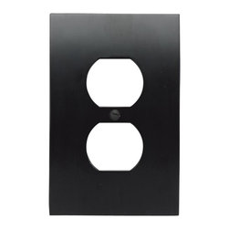 Atlas Homewares - Black Zephyr Outlet Plate (ATHPHPOPBL) - Black Zephyr Outlet Plate