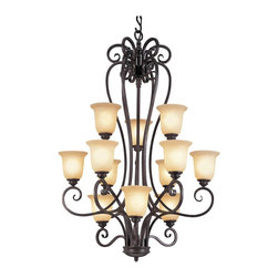 Trans Globe Lighting - Trans Globe Lighting 70297 Transitional Iron Scroll Chandelier - Trans Globe Lighting 70297 Transitional Iron Scroll Chandelier