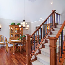 Traditional Staircase by James Barton Design Build
