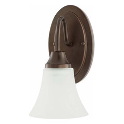 Sea Gull Lighting - 1-Light Wall / Bath Bell Metal Bronze - 41806-827 Sea Gull Lighting Holman 1-Light Wall / Bath with a Bell Metal Bronze Finish