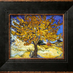 Artcom - Mulberry Tree, c.1889 by Vincent van Gogh - Mulberry Tree, c.1889 by Vincent van Gogh is a Framed Art Print set with a HIGHLAND Black Wide wood frame.