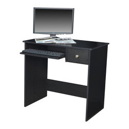 Regency - Regency Rta Desk with Pencil Drawer in Ebony - Regency -Computer Desks -PDS3219EB -Sleek and compact the RTA desk can be a useful addition to your home or office space. Ideal for placing your computer this desk offers a spacious top and keyboard tray to support your keyboard. A pencil drawer provides ample of space to keep your pencils pens and other stationery. Stylish and practical the desk in ebony finish is a must have.