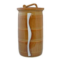 Paper Towel Holder - Glaze Color - Nutmeg