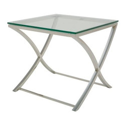 Nuevoliving - Nuevo Living Felix Side Table - Silver - Features: