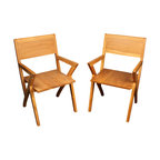 IndoModern - Narez Teak & Palisander Chair Set of 6 - Featuring beautiful gleaming natural teak wood grain that provides its own unique textures, the Narez Chair is a Modern-inspired design crafted from Indonesian wood. It's even Earth-friendly, with five trees planted for each harvested by IndoModern. Each piece of wood remains in a kiln oven for 4-6 weeks to strengthen and prevent splitting of this gleaming and gorgeous home furnishing.