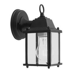 Livex Lighting - Livex Lighting 7506 1 Light 60W Up Lighting Wall Sconce with Medium Bulb Base an - 1 Light 60W Up Lighting Wall Sconce with Medium Bulb Base and Clear Beveled Glass from Outdoor Basics SeriesProduct Features:
