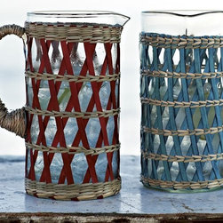 Woven Pitcher - These would be pretty with fruit-flavored water inside.