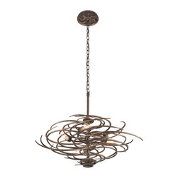 Troy Lighting F3675 Revolution Bronze Pendant - Troy Lighting F3675 Revolution Bronze Pendant*Number of Bulbs: 5*Bulb Type: Candelabra*Collection: Revolution