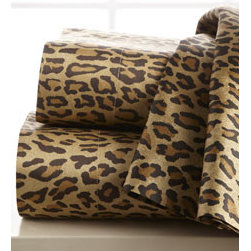 Leopard-Print Sheets - Spice up the bedroom with these leopard sheets. Leopard is a new neutral, after all, so it's sure to go with any comforter or duvet. I love to mix and match prints, and it would be super easy to do with these linens.