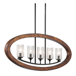 Kichler Lighting - Kichler Lighting 43186AUB Grand Bank 5 Light Island Lights in Auburn Stained Fin - Chandelier Linear 5Lt
