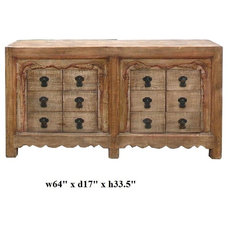 Eclectic Side Tables And End Tables by Golden Lotus Antiques