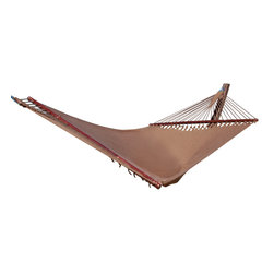 "Caribbean Hammocks - Hammock Jumbo 55"" Wide - Free Suspension Kit, Mocha - The combination of traditional design with modern materials so often produces a vastly superior product than the original, and this Jumbo Caribbean Hammock is no exception."