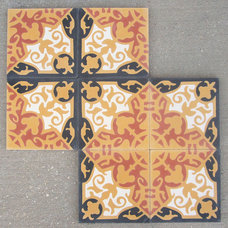 Mediterranean Floor Tiles by Villa Lagoon Tile