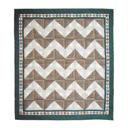 Patch Quilts - Peasant Log Cabin Duvet Cover Twin 70 x 88 Inch - Beautifully crafted cover with intricate patchwork  - Bedding ensemble from Patch Magic,  the name for the finest quality quilts and accessories  - Machine washable  - Line or Flat dry only Patch Quilts - DCTPLC