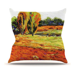 """KESS InHouse - Jeff Ferst """"Summer Breeze"""" Orange Foliage Throw Pillow, Indoor, 26""""x26"""" - Rest among the art you love. Transform your hang out room into a hip gallery, that's also comfortable. With this pillow you can create an environment that reflects your unique style. It's amazing what a throw pillow can do to complete a room. (Kess InHouse is not responsible for pillow fighting that may occur as the result of creative stimulation)."""
