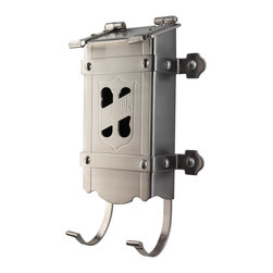 Harmon Craftsman Mailbox - Inspired by an original 1910 design, the solid brass Harmon mailbox features beautiful Arts and Crafts hand-wrought metalwork detailing.