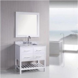 "Design Elements LLC - Bathroom Sink Vanity, 40"" Single Drop-In Sink, Sierra - Faucets not included"