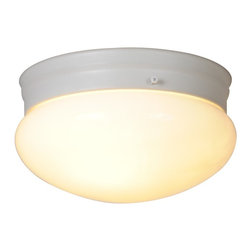 Premier - New Mushroom 8 inch Ceiling Fixture - White - Premier 671330 9in. D by 5-5/8in. H Ceiling Fixture, White.