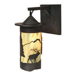 Steel Partners Inc - Hanging Sconce - PASADENA ELK - Every piece we create is unique — handcrafted at our factory in Chehalis, Washington, USA. Due to this, lead times are 2 to 4 weeks.