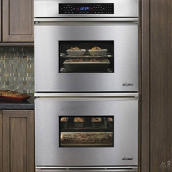 "Dacor 30"" Double Electric Wall Oven - We love the Dacor double ovens for the recessed finger pulls, which doesn't encroach on the circulation path like regular handles do (ouch)!"