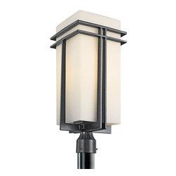 Kichler - Kichler 49204BK 1 Light Outdoor Post Light from the Tremillo Collection - Kichler 49204 Tremillo Outdoor Post Lantern