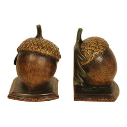 Sterling - Sterling 91-4960 Pair Muir Woods Acorn Bookends - Sterling 91-4960 Pair Muir Woods Acorn Bookends