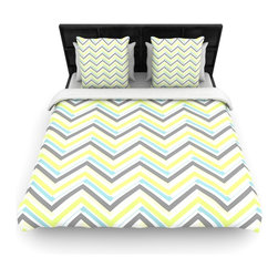 "Kess InHouse - CarolLynn Tice ""Ideal"" Gray Yellow Cotton Duvet Cover (Twin, 68"" x 88"") - Rest in comfort among this artistically inclined cotton blend duvet cover. This duvet cover is as light as a feather! You will be sure to be the envy of all of your guests with this aesthetically pleasing duvet. We highly recommend washing this as many times as you like as this material will not fade or lose comfort. Cotton blended, this duvet cover is not only beautiful and artistic but can be used year round with a duvet insert! Add our cotton shams to make your bed complete and looking stylish and artistic!"