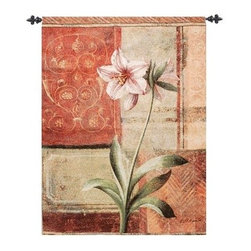 Le Jardin Botanique Red - 35W x 53H in. - Warm, contrasting colors make the Le Jardin Botanique Red - 35W x 53H in. come to life. Adorn your wall with this quality, American made tapestry that was woven on jacquard looms using lushly colored cotton and blended yarns.About Manual Woodworkers and WeaversManual Woodworks and Weavers is a third generation, family owned manufacturing company based in North Carolina. They have been creating quality gifts, home furnishings, and home décor in the USA since 1932. Their innovative designs and ability to identify trends in the gift and decorative accessories industry has won them numerous number one rankings in home décor by Gift Beat Magazine.
